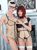 Danni and eve hi def. Hot Danni posing naughty with Eva